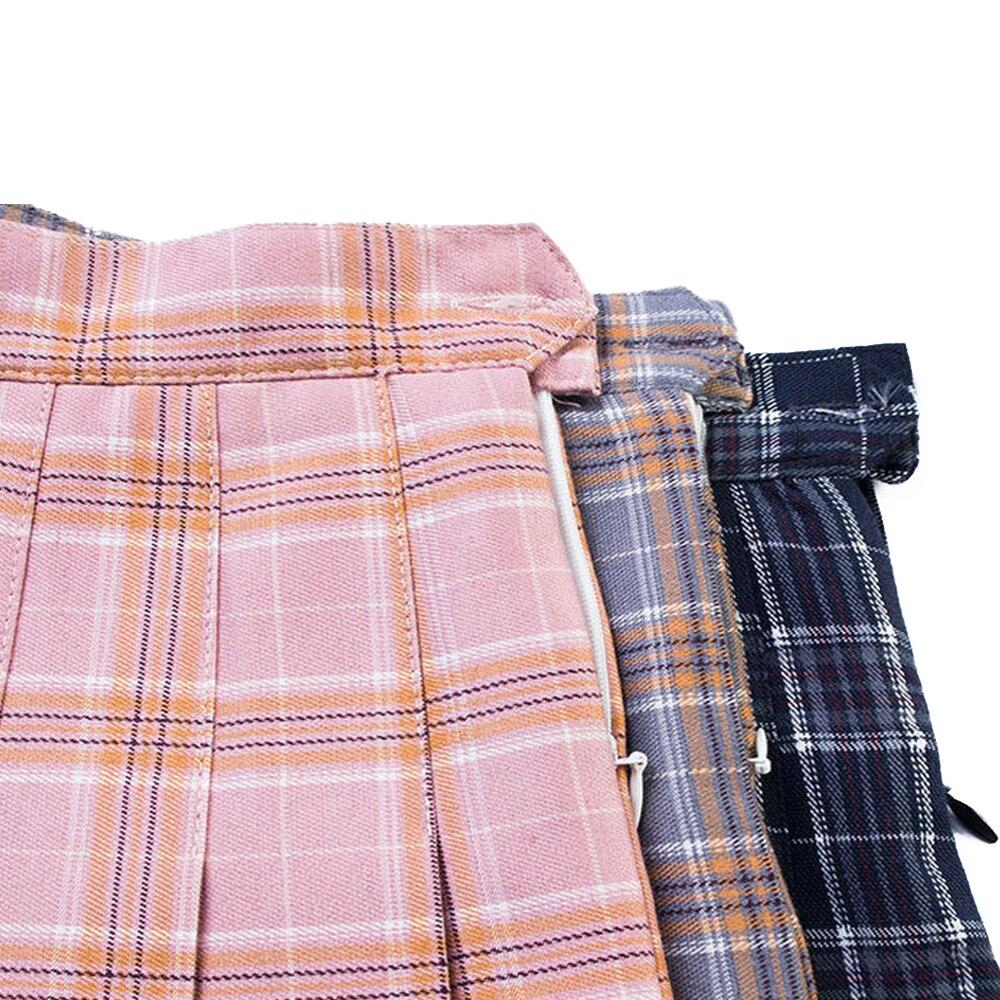 Мини-юбка, мягкая Летняя короткая юбка в клетку, легкая юбка трапециевидной формы, плиссированная юбка, удобная, 3 цвета, для девочек
