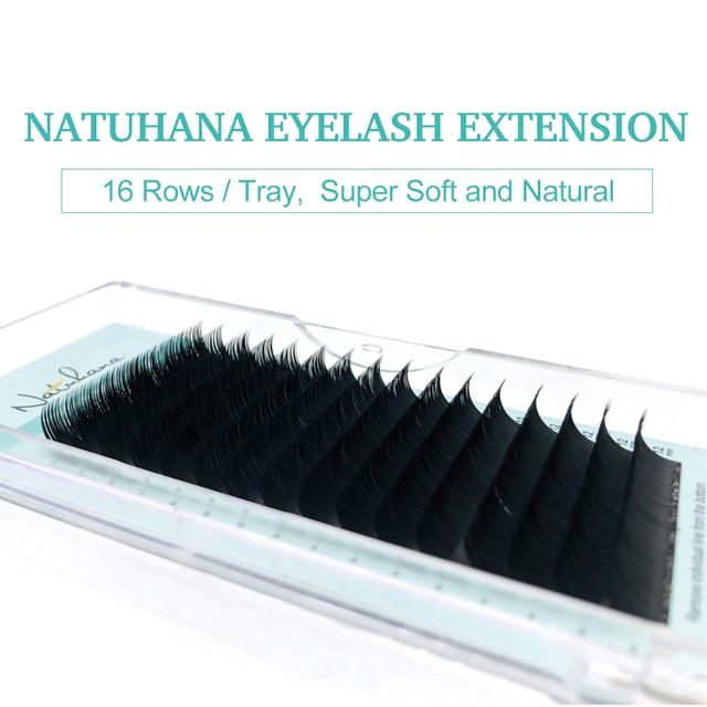 NATUHANA Korea PBT 16Rows B C D Curl Eyelash Extension False Individual Lashes Hand Made Faux Mink Eyelashes for Extensions 4