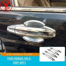 Car Door Handle Cover Trim High Quality Chromium Styling Exterior Parts Accessories For Honda CRV CR-V 2007 2008 2009 2010 2011