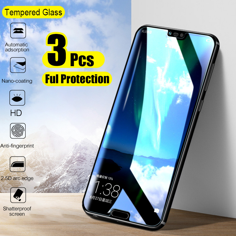 3-1Pcs Tempered Glass For Huawei P30 P20 P10 Lite Pro Screen Protector Protective Glass For Huawei Mate 20 30 Lite P Smart 2019