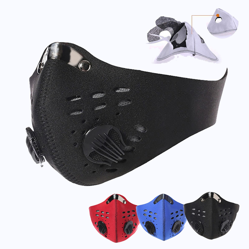 Mascarillas Face Mask With Filter Breath Valve PM2.5 Dust Respirator Reusable Masque Fpp2 Fpp3 Mask  Mouth Cover Protection