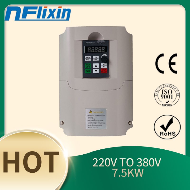New 220V to 380v AC 7.5Kw 15HP VFD Variable Frequency Drive Inverter for 0-400HZ <font><b>cnc</b></font> <font><b>spindle</b></font> motor image