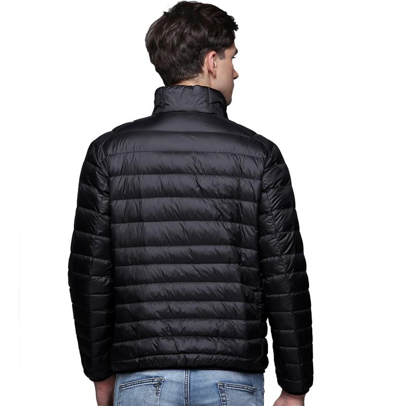 Image 5 - New Autumn Winter Man Duck Down Jacket Ultra Light Thin Plus Size  Spring Jackets Men Stand Collar Outerwear Coatcoat downlight  downduck down