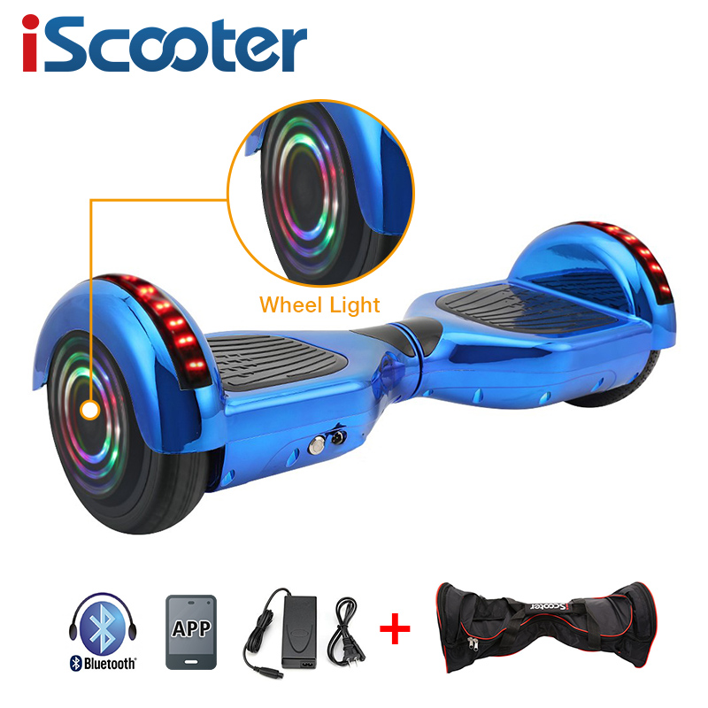 iScooter 6.5 inch Two wheels Electric Hoverboard with Bluetooth and LED Light 2