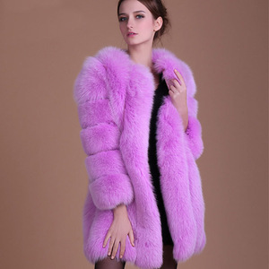 Image 5 - Abrigo de piel a la moda, cálido abrigo de piel de 100% para Chaqueta de piel Natural, chaquetas mullidas de manga larga elegantes para mujer, chaquetas de piel artificial de talla grande, abrigo S 3XL, 2020