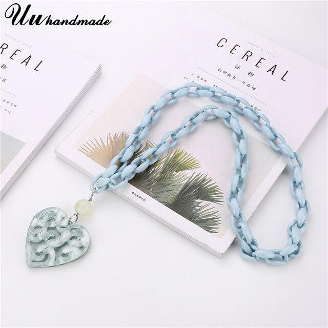 винтажные длинная звеньевая цепь ожерелье lover сердце кулон фотография