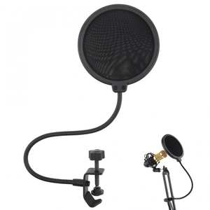 MIC-POP-FILTER-SHIELD Microphone Wind-Screen-Mask Singing-Recording Studio Speaking Double-Layer