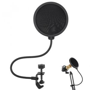 Image 1 - 100mm durchmesser Doppel Schicht Studio Mikrofon Wind Bildschirm Maske Mic Pop Filter Schild für Sprechen Studio Singen Aufnahme
