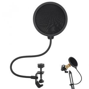Image 1 - Máscara de viento de Micrófono de estudio bidireccional de 100mm de diámetro, protector de filtro Pop para micrófono, para hablar en estudio, cantar y grabar