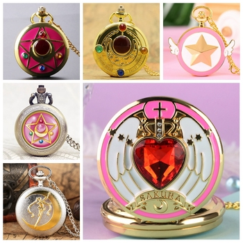 7 Types Japanese Anime Sailor Moon Quartz Pocket Watch Fashion Unique Necklace Pendant Chain Cosplay Gifts for Women Girls Lady - discount item  27% OFF Pocket & Fob Watches