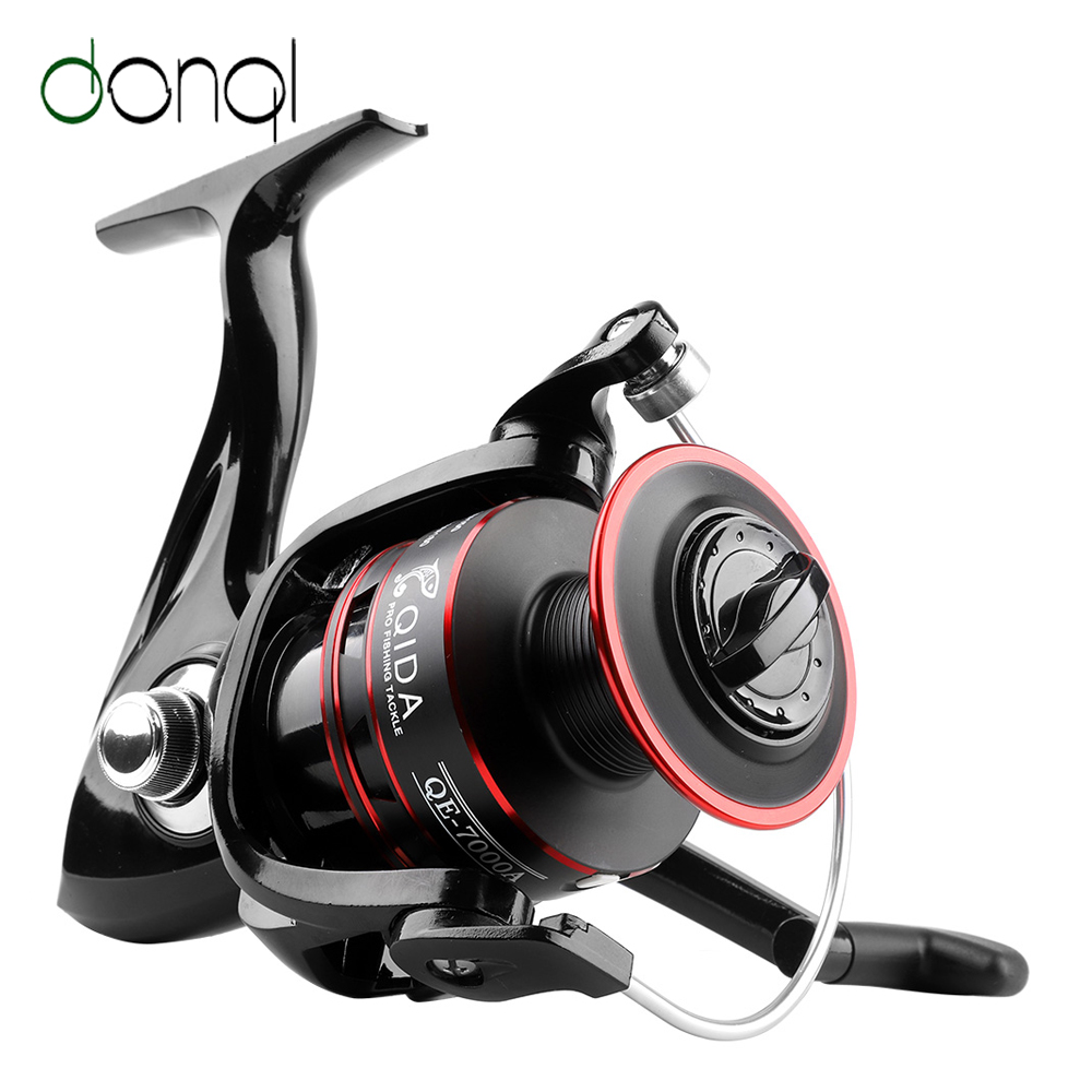 DONQL Metal Spool Spinning Fishing Reel 12 Ball Bearing Fishing Coil Left/Right Hand Wheels Carp Fishing Tackle 2000-7000 Series