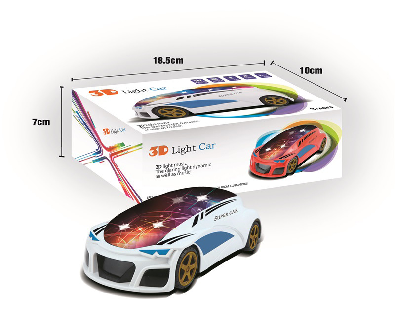 New Style With 3D Light And Music Electric Universal Car Model Car Model CHILDREN'S Toy Flash Car Hot Selling