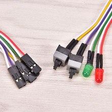 ATX – câble d'alimentation pour carte mère, 68cm, 2 interrupteurs On/Off/Reset, pour ordinateur PC