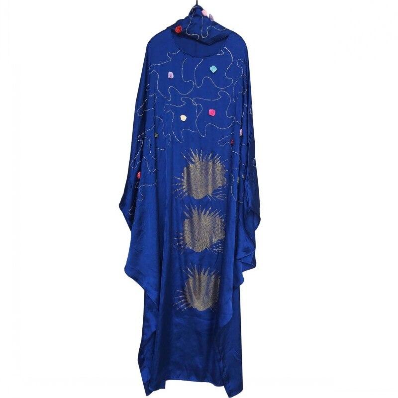 Longueur 150cm robes africaines pour femmes Dashiki diamant vêtements africains Bazin Broder Riche Sexy mince Robe de soirée longue Robe