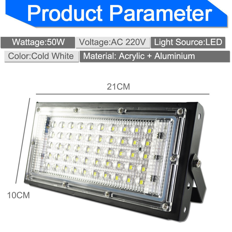 Foco LED Spotlight 50W AC 110V 220V Combination Floodlight Outdoor Refletor LED Ceiling Spot Light Panel Kitchen LED Floodlight