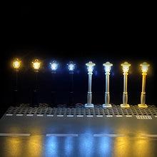 Blocs de construction d'éclairage de rue de ville, lampes LED 7 Ports USB, briques classiques émettant de la lumière, compatibles avec toutes les marques, Mini modèle d'éclairage