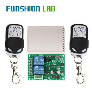 Image 3 - FUNSHION 433 Mhz Drahtlose Fernbedienung Schalter AC 85V 110V 220V 2CH Relais Empfänger Modul & RF 433 Mhz 4 taste Fernbedienungen
