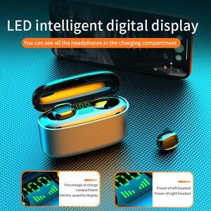 Image 3 - 9Dไร้สายหูฟังกันน้ำLedดิจิตอลจอแสดงผลหูฟังบลูทูธTouch Controlลดเสียงรบกวนกีฬาชุดหูฟังสำหรับโทรศัพท์