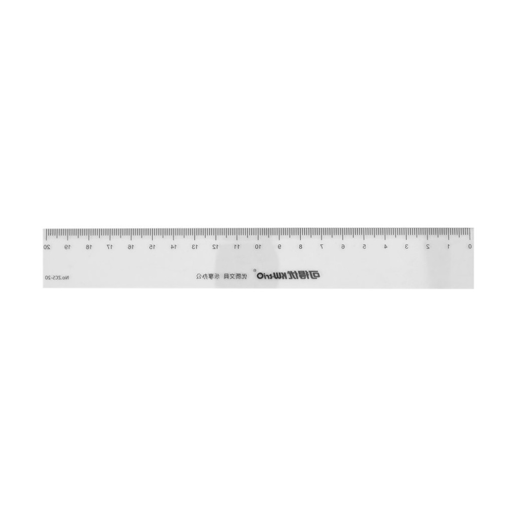 ZCS-20 Plastic 20cm Straight Ruler Measuring Scale Office Home Student Teaching Stationary Supplies Tools