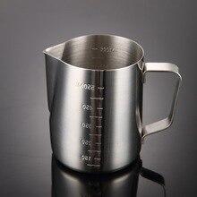 Stainless-Steel Milk Frothing Pitcher Jug-Cups Milk-Jugs Latte-Art Steaming Coffee 1pc