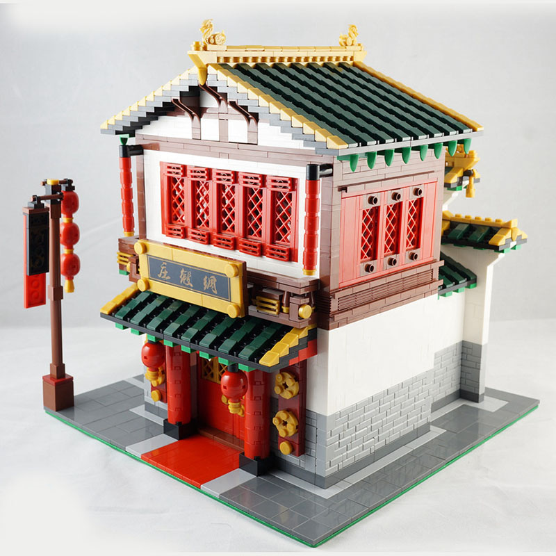 2787Pcs XINGBAO Building Blocks XB-01001 Creator China Town Series Silk Zhuang Traditional Chinese architecture Bricks Toys