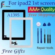 Para ipad 2 tela de toque a1395 a1396 a1397 toque digitador sensor painel vidro frameouter tela toque frontal painel vidro substituir