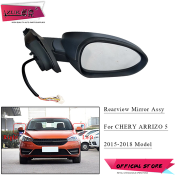 ZUK Left Right Outer Rearview Side Mirror Assy For CHERY ARRIZO 5 2015 2016 2017 2018 Without Auto Folding and Heat Base Color