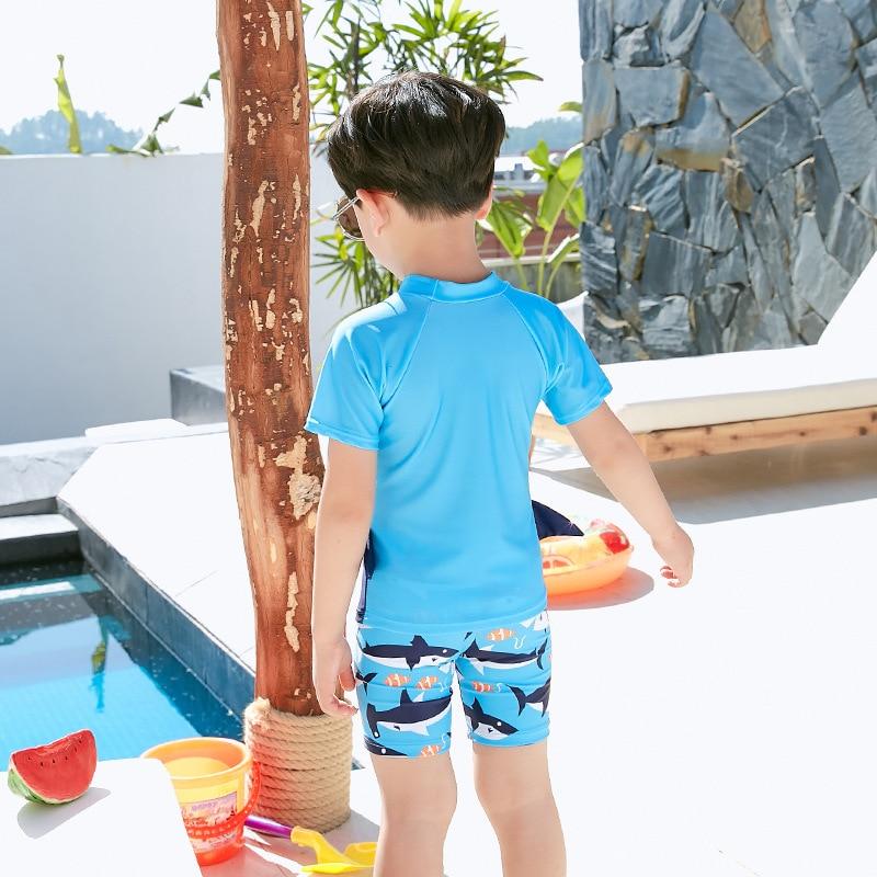 KID'S Swimwear Quick-Dry Sun-resistant Cute BOY'S Swimsuit Big Boy Swimwear Kids Baby Swimming Trunks Siamese Swimsuit