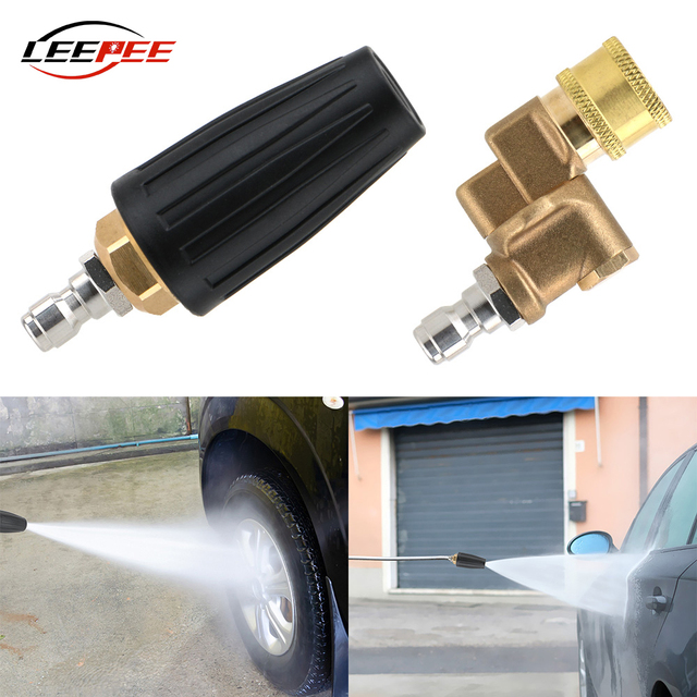 LEEPEE Car Accessories High Pressure Washer Replacement Turbo Nozzles Sprayer Rotary Pivoting Coupler Jet Auto Garden Clean