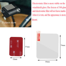 Voor 70MAI A800 A800s 4K Dashcam Hittebestendige 3M Sticker + Transparante Elektrostatische Film, xiaomi 70MAI Speciale Accessoires