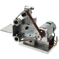 Small Mini DIY Polishing Machine Grinding Bench Electric Belt Sander Grinder Sharpener Abrasive Tools