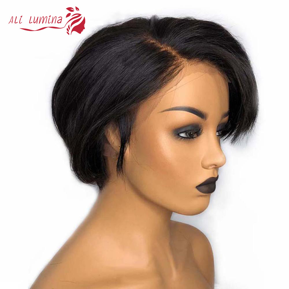 Straight Pixie Cut Short Lace Frontal Wig