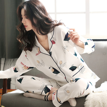 Pyjama Women Clothes Summer Pajamas Sets Long-sleeved Sleepwear Suits Girl Fashion Casual Outerwear Night