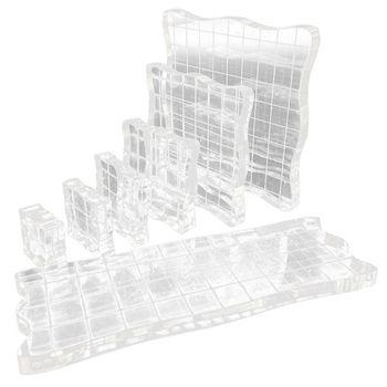 7pcs/set Transparent Acrylic Clear Stamp Block Pad Scrapbooking DIY Handmade Too Y98E