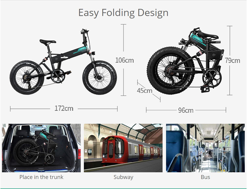Electric bike which is easy to store and transport