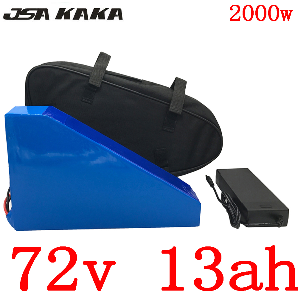 72V 1000W 1500W 2000W lithium battery 72V 13AH electric scooter battery 72V electric bike battery with 84V 2A charger free duty|Electric Bicycle Battery|   - title=