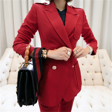2019 Runway Women's Suit 2 Pieces Set Autumn Elegant Fashion