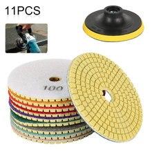10PCS/Set Sanding Grinding Disc Wet Diamond Polishing Pads Tile Marble Granite Polisher Flexible Stone Ceramic Hand Tools