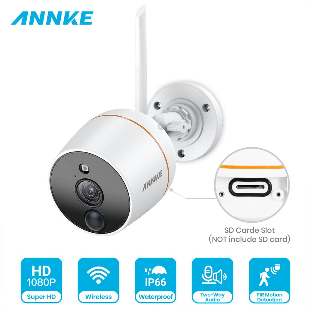 ANNKE 1PCS FHD 1080P Wireless IP Camera Outdoor Weatherproof PIR Motion Dection CCTV Video Security System 128G TF Card Support