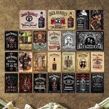 Jack Wine Whiskey Vintage Metal lata con letrero para Bar Casino decoración del hogar cerveza placa publicitaria pintura póster arte de pared pegatina