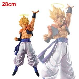 Image 1 - 28cm Dragon Ball Super Gogeta Action Figure Super Saiyan Goku Vegeta Figurine Dragon Ball Z Gogeta PVC Model Toy