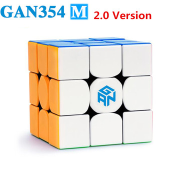 GAN 354 M 3x3 magnets puzzle magic cube GAN354 M professional speed gans cubes GAN 354M Magnetic cubo magico toys for children