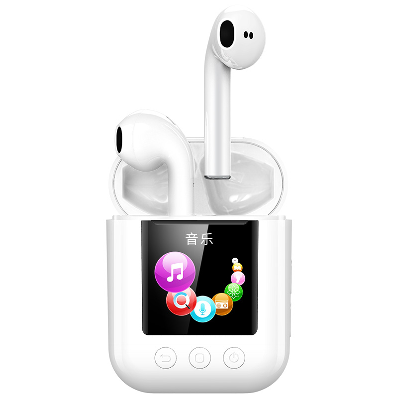 Newsmy Q7 MP3 Player TWS Wirelss Bluetooth 5.0 Earphone 2in1 OTG FM Pedometer Lossless Sports Running 8G Music Player Earbuds