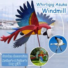 Draaimolen-Asuka Windmolen Whirly Papegaaien Tuin Gazon Decoratie Binnenplaats Farm Yard Decoratieve Stakes Wind Spinners Decor