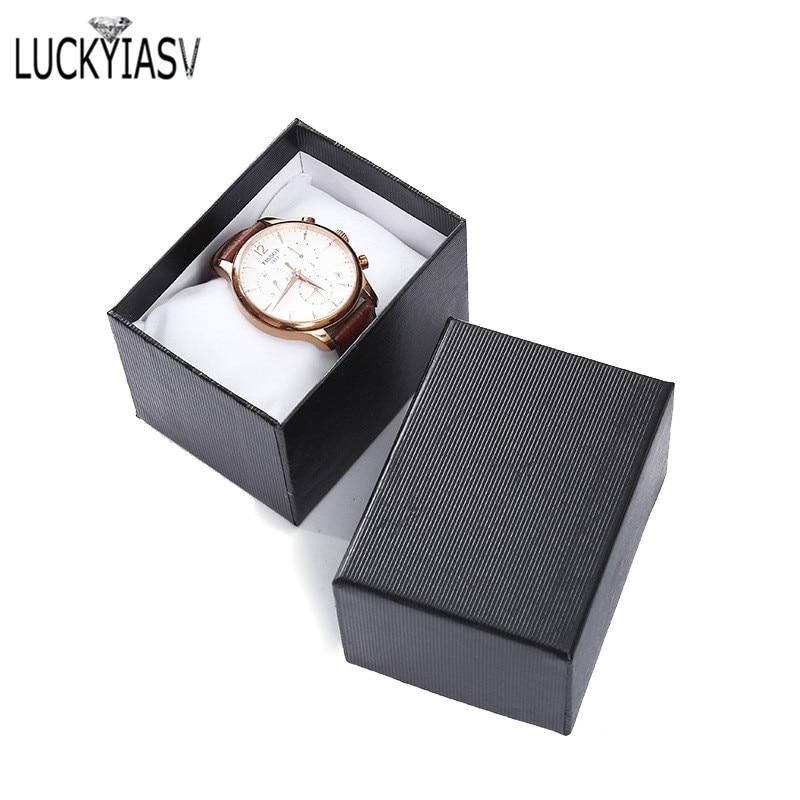 Wholesale 5 Color Cardboard Watch Box Bracelet Jewelry Box Man Watch Gift Boxes Showed Case 10.5*7.5*7cm