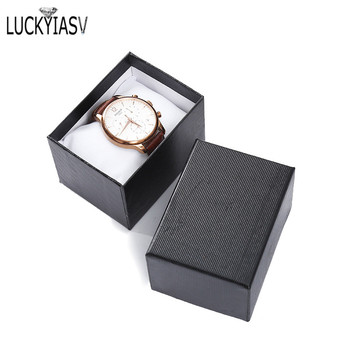 Wholesale 5 Color Cardboard Watch Box Bracelet Jewelry Man Gift Boxes Showed Case 10.5*7.5*7cm - discount item  1% OFF Jewelry Packaging & Display