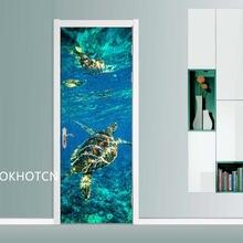 Diy художественные наклейки домашние двери животные морская