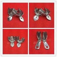 Nuevas bandejas dentales instrumentos de dentadura bandeja de impresión de acero inoxidable