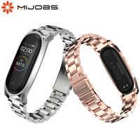 Mi Band 4 Strap GT Version Metall Edelstahl Armband für Xiao mi mi Band 3/4 Smart Armbänder Correa mi band 4 Handgelenk Staps
