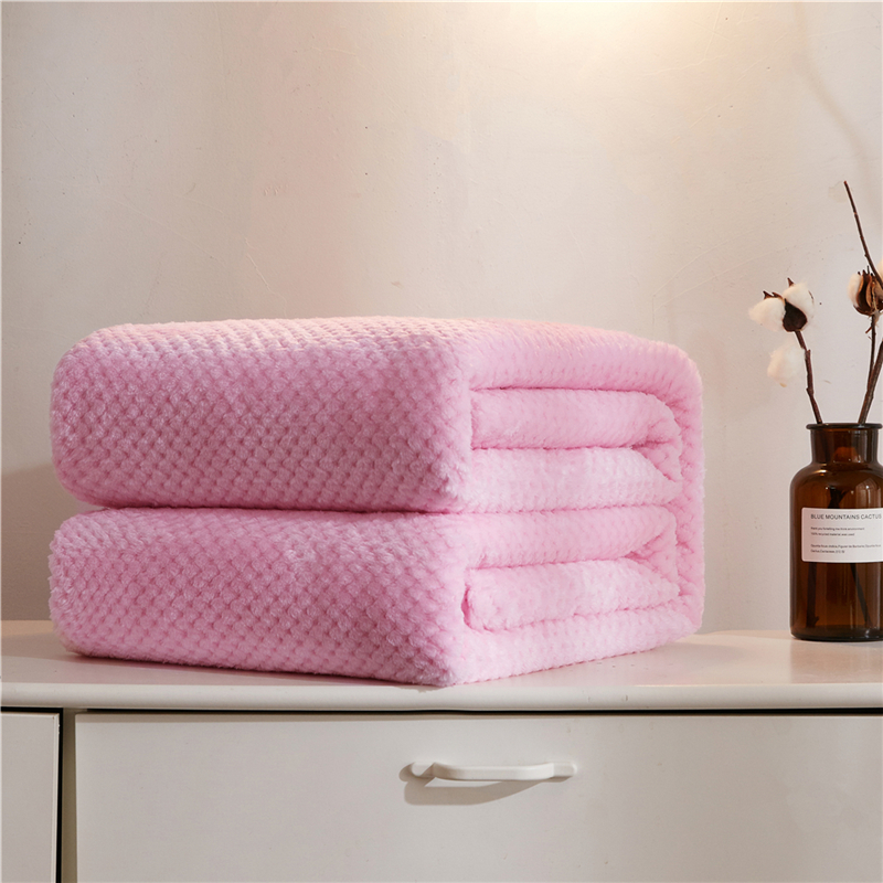 Soft Warm Flannel Blankets For Beds Solid Pink Blue Coral Fleece Mink Throw Sofa Cover Bedspread Fluffy Plaid Blankets-1